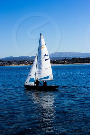 Sailing sail boat Monterey California USA  photo