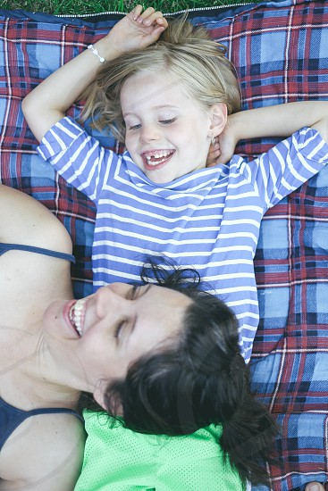 Mother and daughter sharing a happy moment. photo