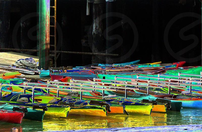 Pattern Kayaks docked photo