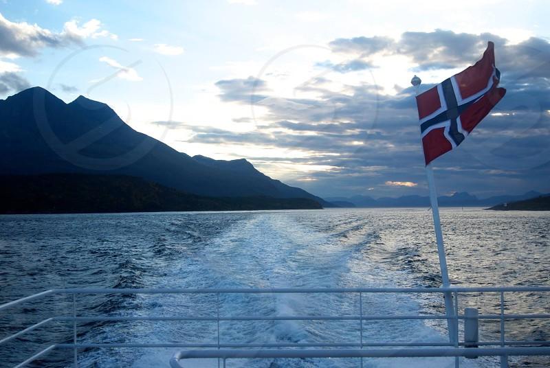 Sunset outside of Tromso Norway photo