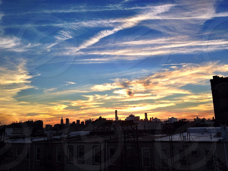 Doesn't get much stronger than a beautiful sunset of Manhattan  photo