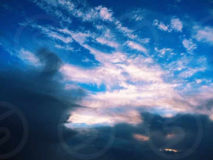 white gray clouds photo