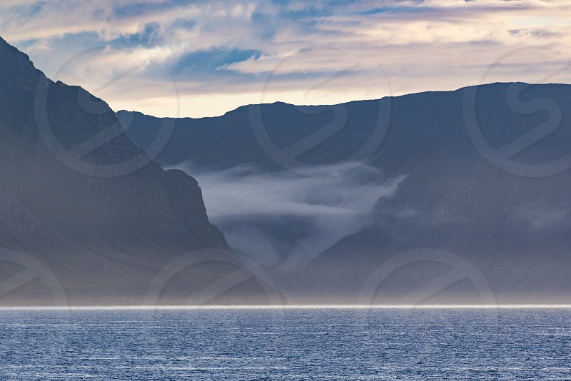 Icelandic landscape in Akureyri photo