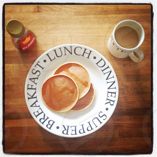 Homemade pancakes breakfast.  photo