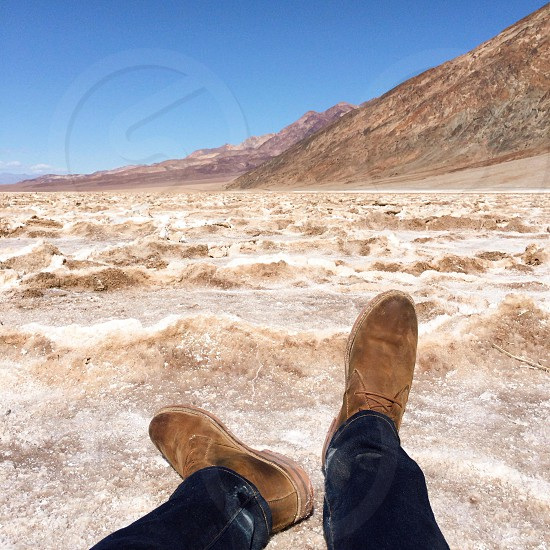Sitting 282 ft below sea level the lowest point in North America. Death Valley CA photo