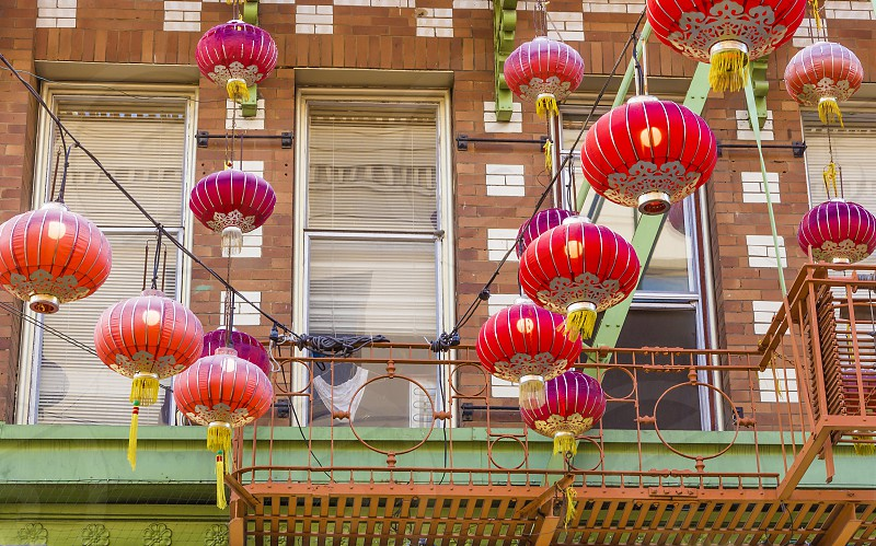 Chinatown lanterns San Francisco California Asian  photo