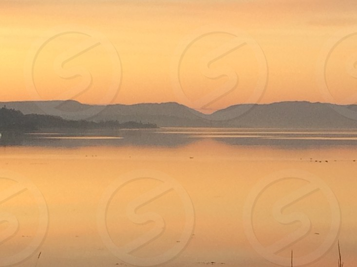 River Clyde at sunset photo