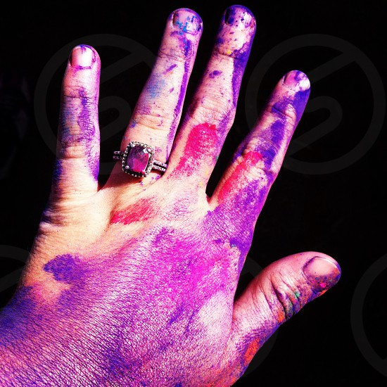 Color festival and an amethyst ring photo
