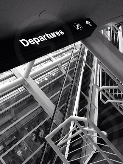Departures sign photo