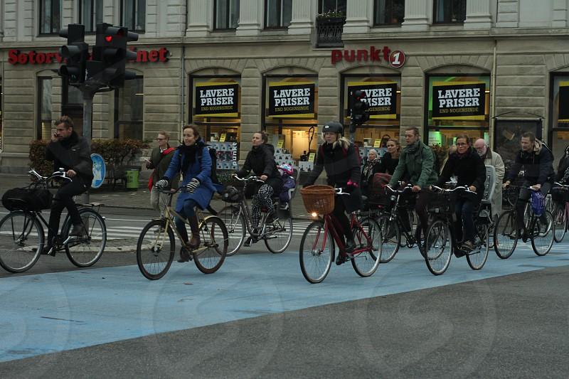 Bicycles in Copenhagen photo