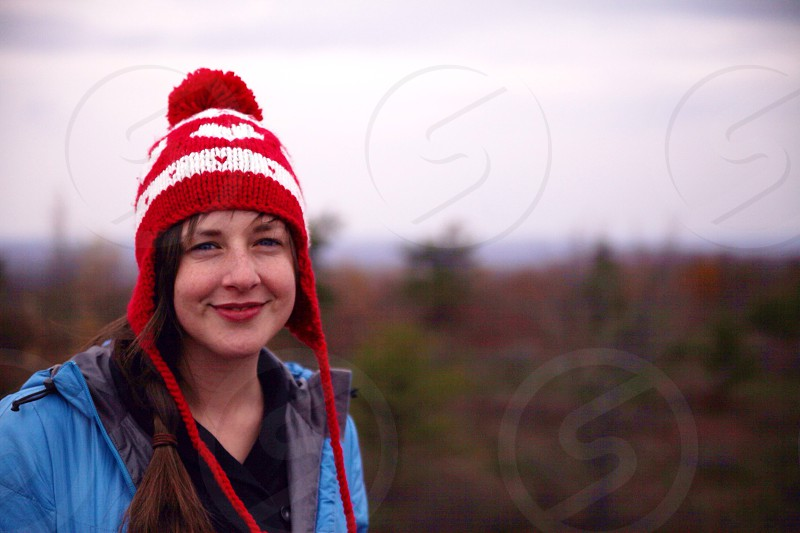 Girl with a red hat photo
