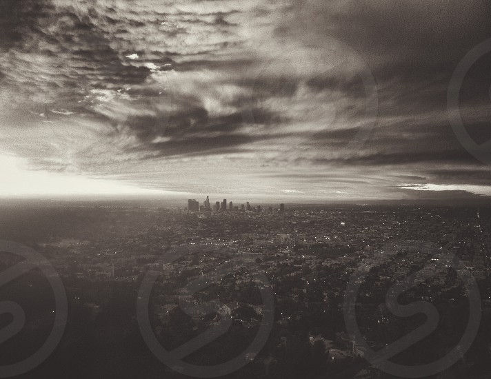 Sunrise over Los Angeles California. photo