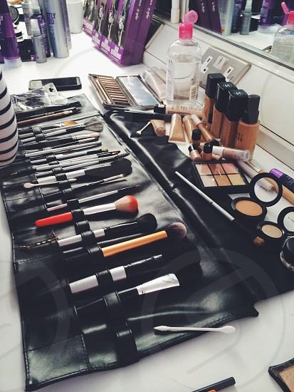 Tools of the trade up. Makeup photo