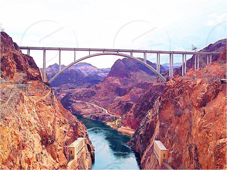 hoover dam bridge photo