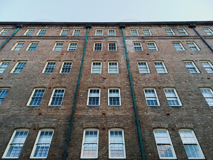 Negative space building minimalism abstract building brick photo