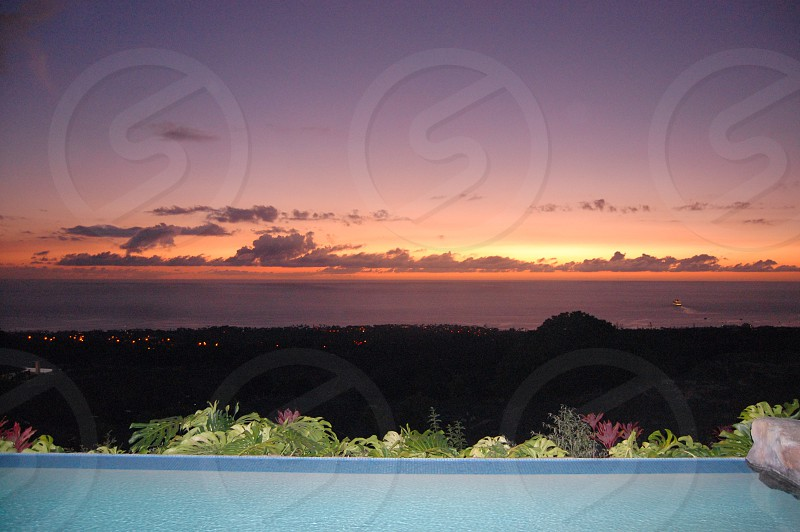 view of sunset photo
