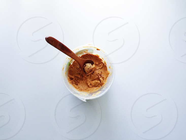 Peanuts peanut butter butter food spoon wooden kitchen kitchenware eat cook minimalism minimalist simplicity white photography  photo