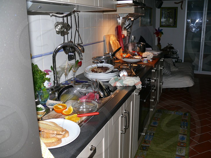 after the party disorder in the kitchen photo
