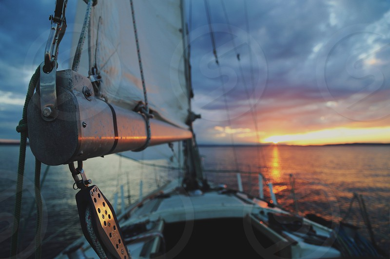 Sailing puget sound adventure summer water boating sailboat photo