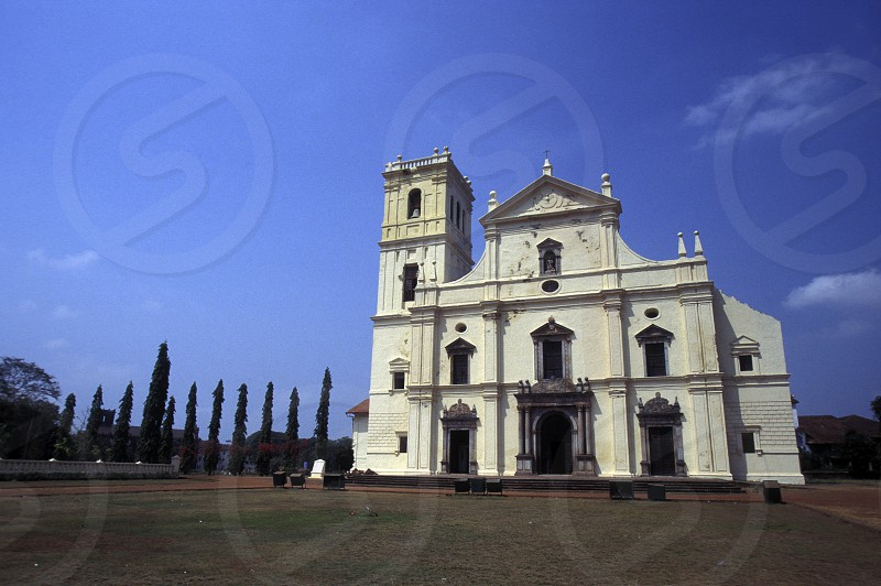 a old church in the town of old Goa in the Province Goa in India. photo