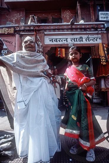 IndiaRajasthanJaipurgrandmagrand daughtersarimarket photo