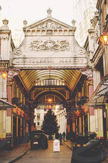 Photo of iconic Leadenhall Market one of the oldest. City of London financial district United Kingdom photo