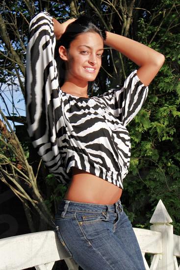 Posing female happy  photo