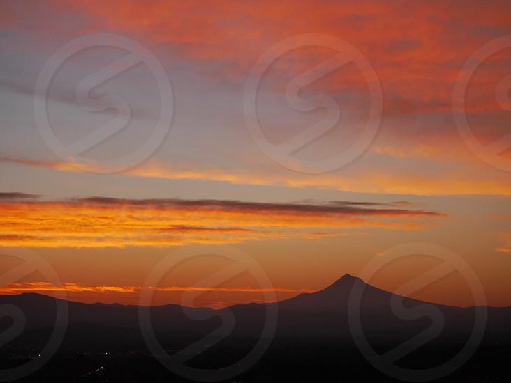 Autumn sunrise; Mt Hood; Portland OR photo