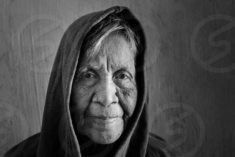 Portrait grandma oldies adult black and white vintage people photo