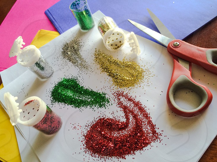 Glitter art project. photo