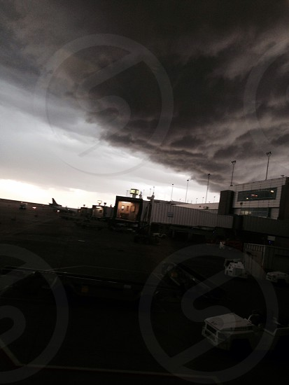 Thunderstorm clouds over Denver Airport photo