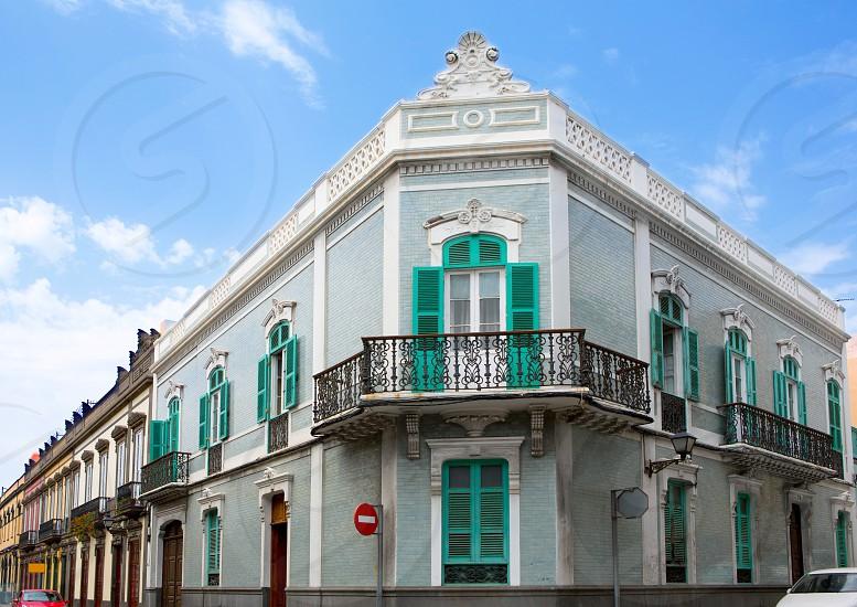 Las Palmas de Gran Canaria Vegueta colonial house facades Spain  photo