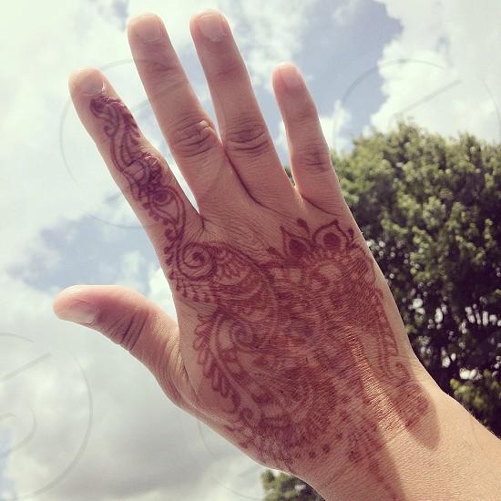 Henna blue sky photo