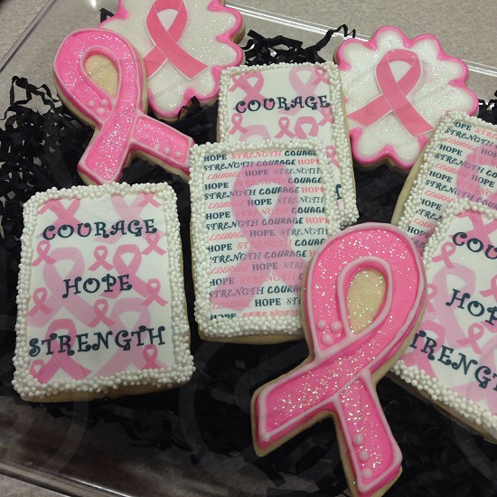 Breast cancer awareness cookies photo