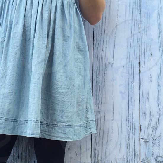 blue denim dress photo