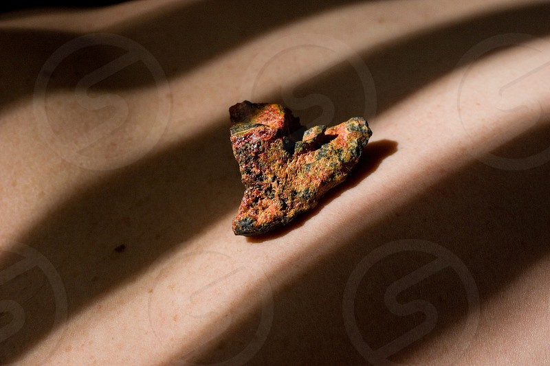 green and brown stone in micro shot photgraphy photo
