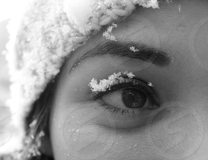 Eye snow cold photo