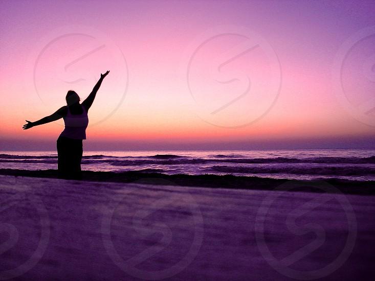 Celebrating at sunrise. Hilton Head Island SC photo