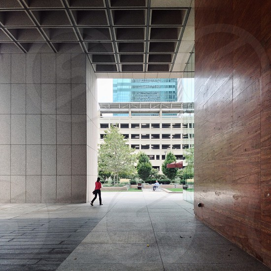 Under the Transamerica Tower downtown Baltimore. MD city urban architecture photo