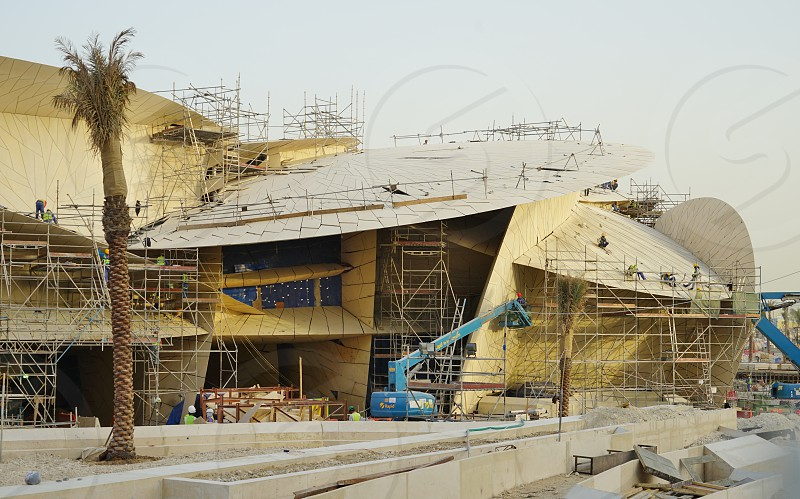 Qatar National Museum is due to open in 2017 after a complete reconstruction on the same site - Doha Qatar photo