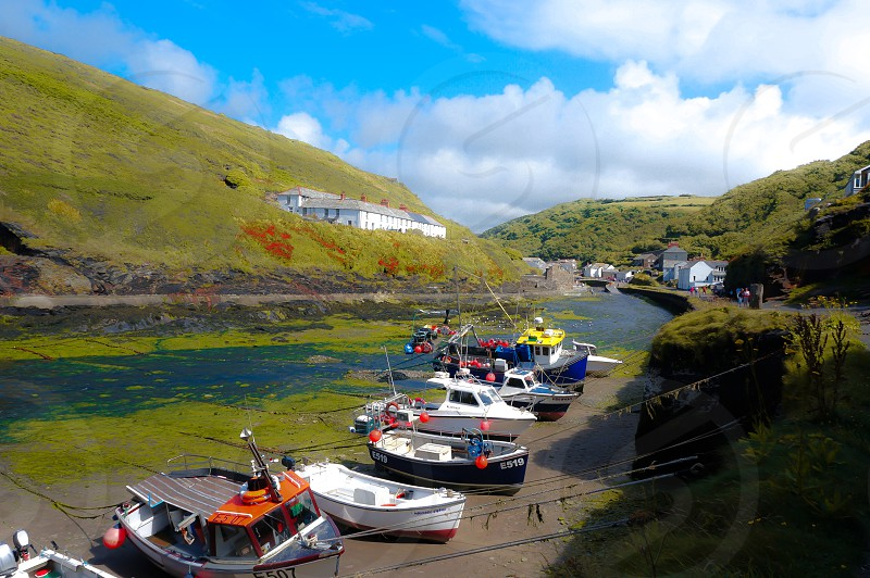Boats Cornwall harbour river fishing holiday colour summer photo