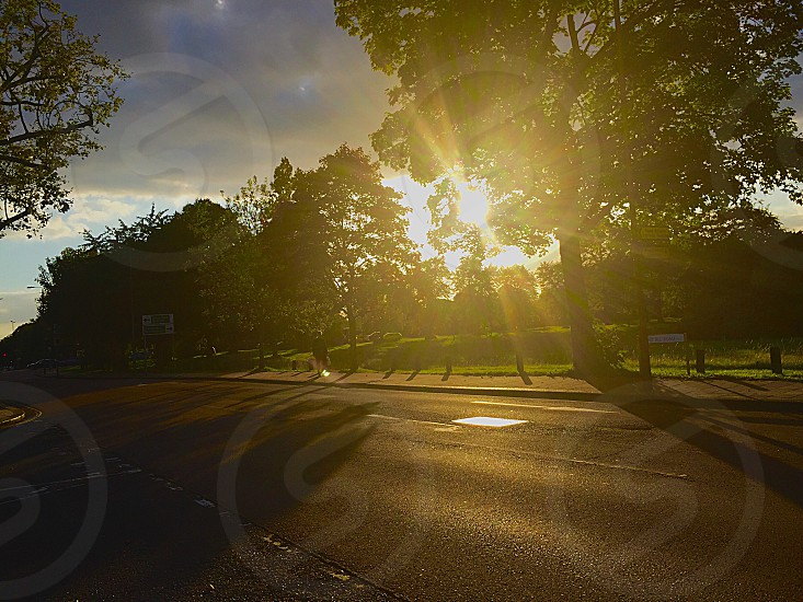 Sunset South West London Wandsworth Windmill Road photo
