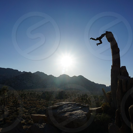 Rock climbing adventures outdoor photo