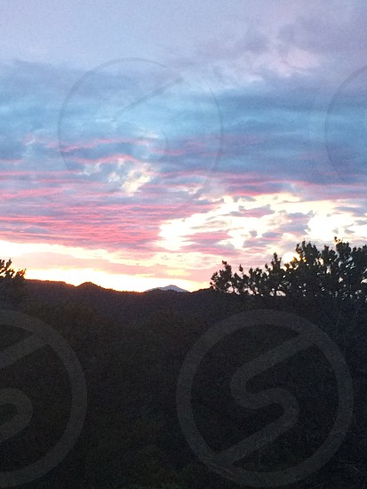 Sun set mountains  photo