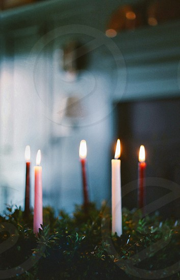 Christmas advent candles winter holidays light holiday religious photo