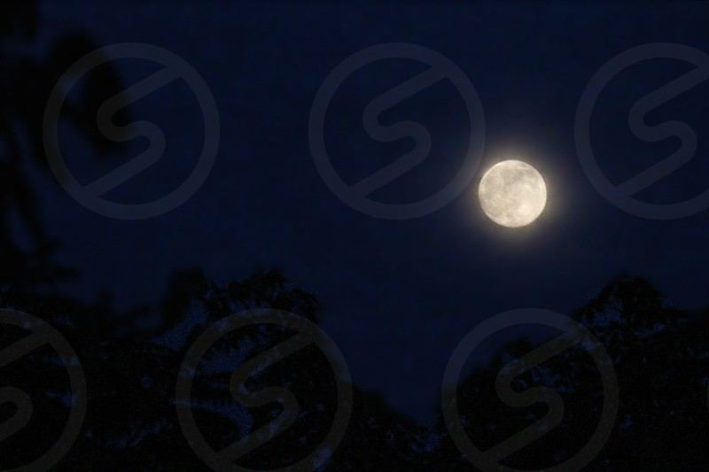 photo of full moon on night time photo