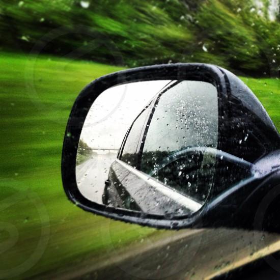 Speeding in the rain photo