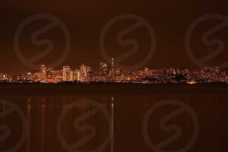 San Francisco from the East Bay at night Reflections of San Francisco photo