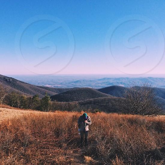 color photo of mountain range photo
