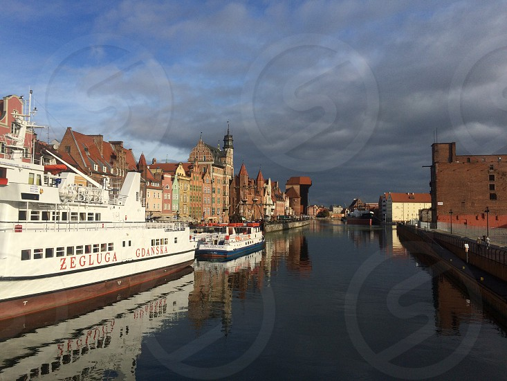 Gdańsk from the sea photo
